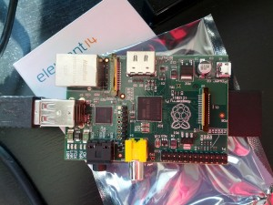 Raspberry Pi, fresh from the oven.