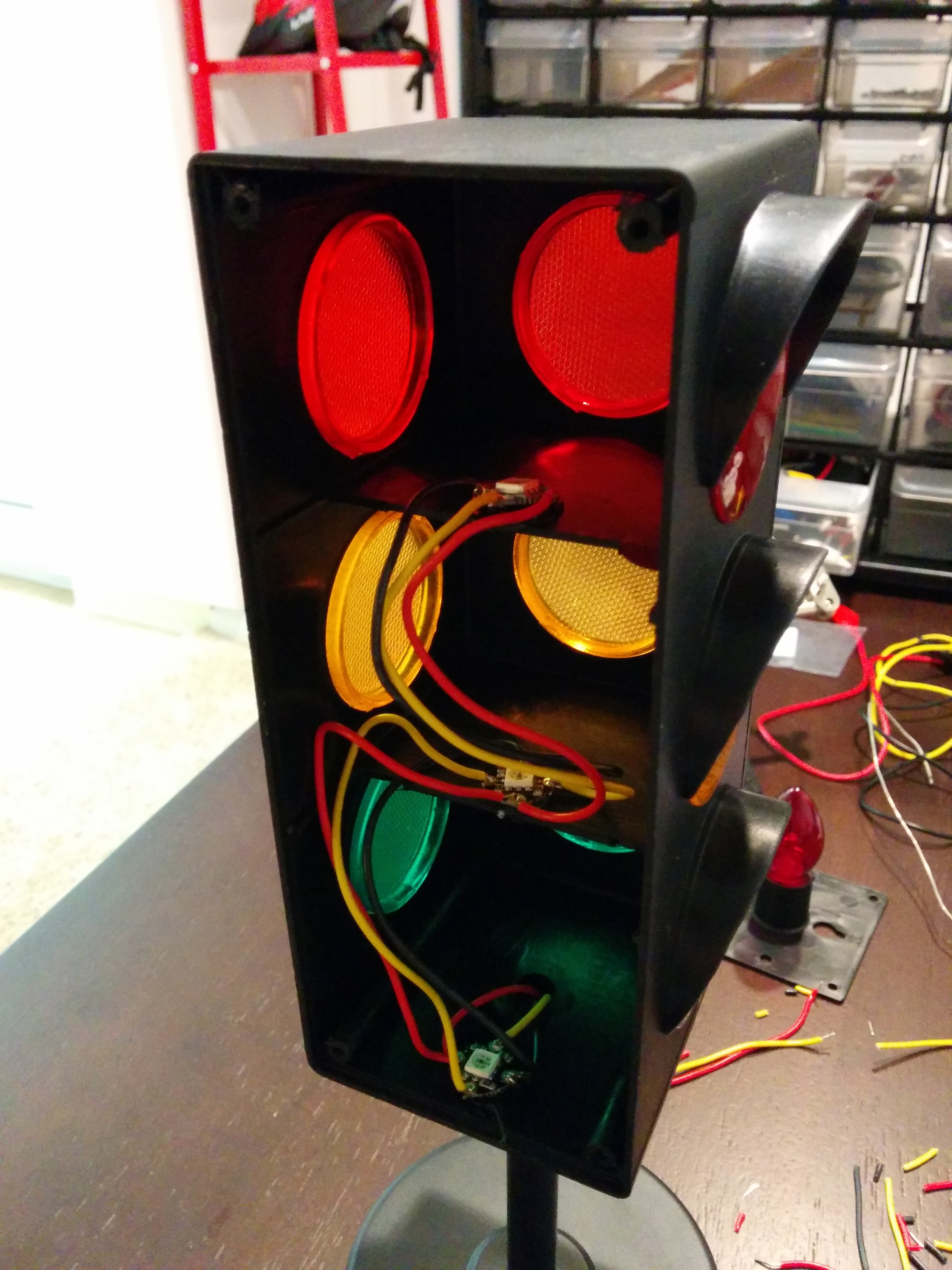 Create Your Own Traffic Signal Status Lamp With Adafruit Flora  Neopixels  And Python
